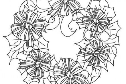 Coloriage,de,Couronnes,de,Noel,Coloriage,couronne,fleurs,