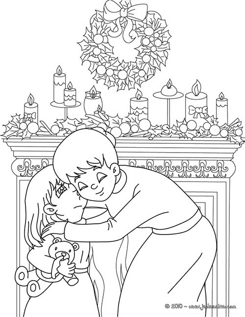 Idee deco coloriage cadeau noel 1000 id es sur la for Decoration noel dessin