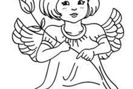 Coloriage anges de noel coloriage d 39 un ange - Coloriage ange ...