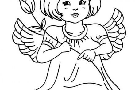 Coloriages-Anges-de-Noel-Petit-ange-a-la-rose-a-colorier.jpg
