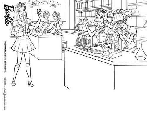 Coloriage barbie apprentie princesse blair en classe a imprimer - Coloriage princesse barbie ...