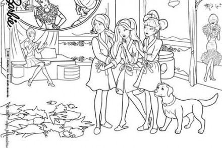 coloriage barbie apprentie princesse coloriage de blair