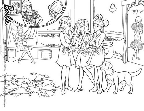 Coloriage barbie apprentie princesse coloriage de blair - Barbie princesse coloriage ...
