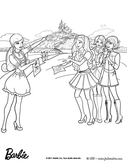 Coloriage barbie apprentie princesse coloriage de blair a l 39 ecole - Barbie princesse coloriage ...