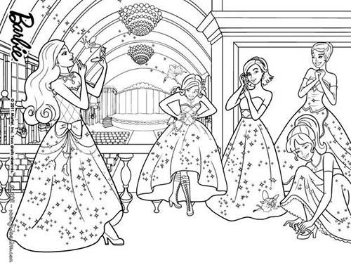 Coloriage barbie apprentie princesse coloriage des - Coloriage de princesse barbie ...