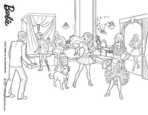 Coloriage barbie apprentie princesse dame devin a colorier - Barbie princesse coloriage ...