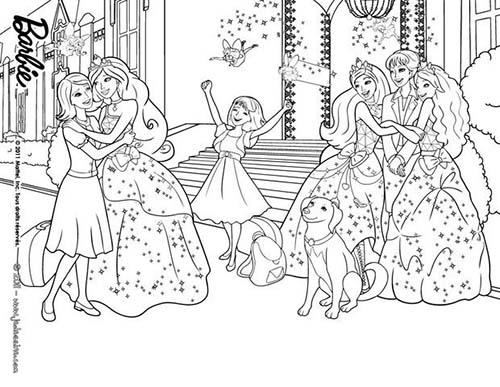 Coloriage barbie apprentie princesse emily et la mere de - Coloriage barbie apprentie princesse ...