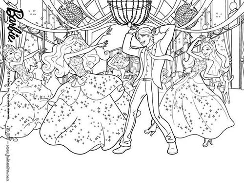 Coloriage barbie apprentie princesse la fete a l 39 ecole des princesses a colorier - Barbie princesse coloriage ...