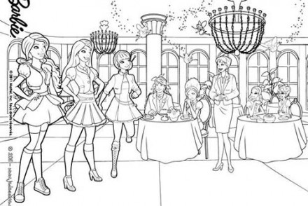 Coloriages-Barbie-Apprentie-Princesse-Miss-Privert-et-les-eleves-a-colorier.jpg
