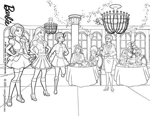 Coloriage barbie apprentie princesse miss privert et les - Coloriage barbie apprentie princesse ...