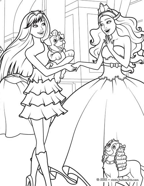 coloriage barbie la princesse et la popstar coloriage de keira