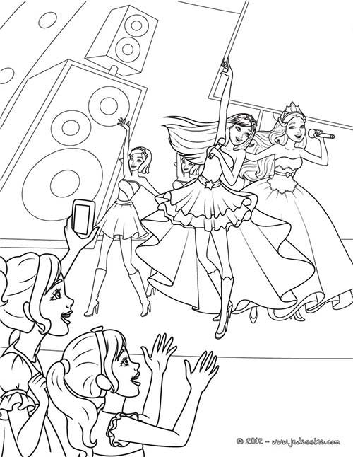 Coloriage barbie la princesse et la popstar coloriage des for Popstar coloring pages