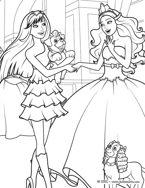 Coloriage barbie la princesse et la popstar coloriage gratuit tori - Barbie princesse coloriage ...