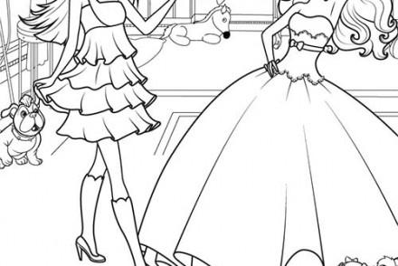 coloriage barbie la princesse et la popstar keira la popstar a colorier