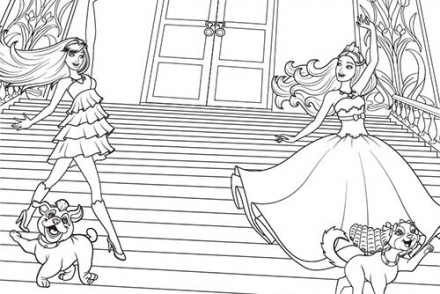Coloriage barbie la princesse et la popstar coloriage - Coloriage barbie fee ...