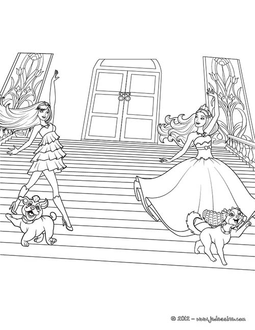 Coloriage barbie la princesse et la popstar tori a - Barbie a colorier ...