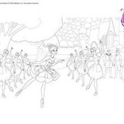 Coloriage barbie reve de danseuse etoile ballet de barbie a colorier gratuitement - Coloriage de danseuse ...