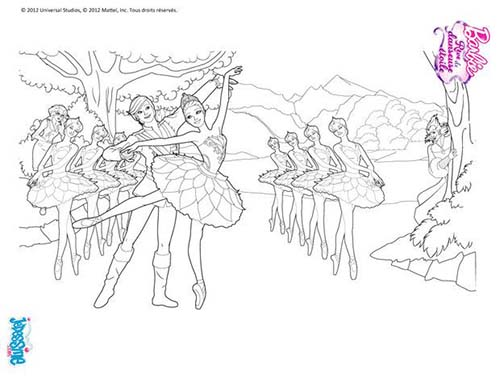 Coloriage barbie reve de danseuse etoile barbie ballet a colorier - Coloriage barbie danseuse ...
