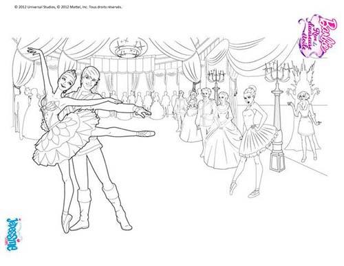Coloriage barbie reve de danseuse etoile barbie danseuse a - Danseuse coloriage ...