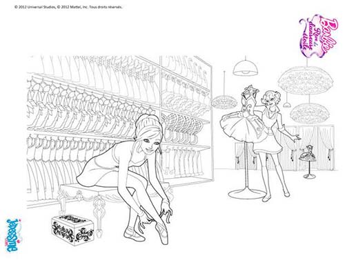 Coloriage barbie reve de danseuse etoile barbie danseuse en repetition a colorier - Coloriage de danseuse ...