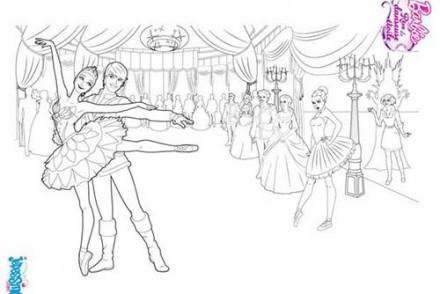 Coloriage barbie reve de danseuse etoile coloriage repetition de danse - Coloriage barbie danseuse ...
