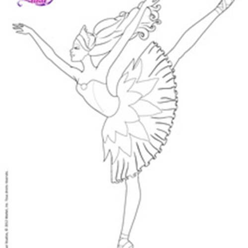 coloriage barbie danseuse toile colorier dessin imprimer sketch coloring page. Black Bedroom Furniture Sets. Home Design Ideas