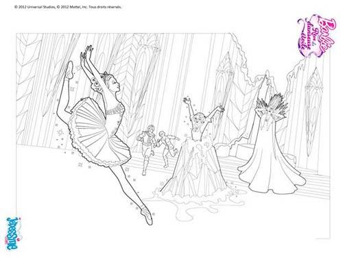 Coloriage barbie reve de danseuse etoile kristyn et hailey a colorier - Coloriage barbie danseuse ...