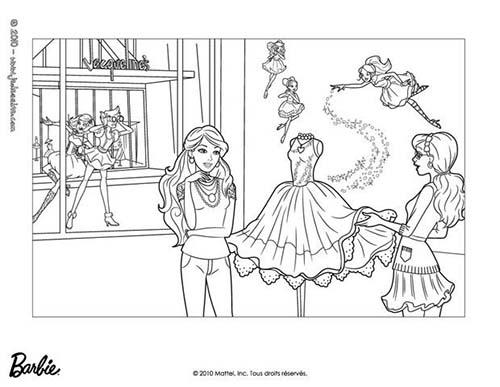 Coloriage barbie et la magie de la mode alice et barbie a - Coloriage magie ...