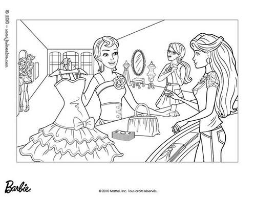 Coloriage barbie et la magie de la mode barbie et sa - Barbie magie de la mode ...