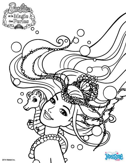 Coloriage barbie et la magie des perles barbie est lumina - Coloriage magie ...