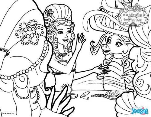 Coloriage barbie et la magie des perles lumina et kuda l - Coloriage magie ...