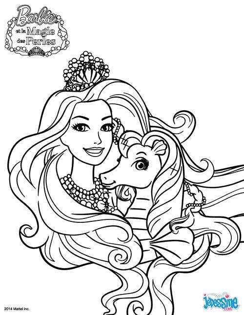 Coloriage barbie et la magie des perles murray - Coloriage magie ...