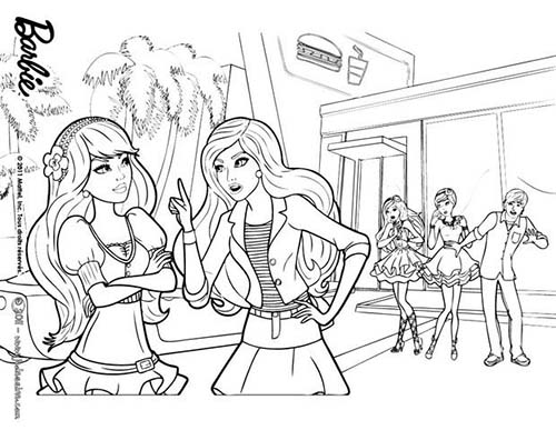 Coloriage barbie et le secret des fees barbie raquelle et - Image de fee a colorier ...