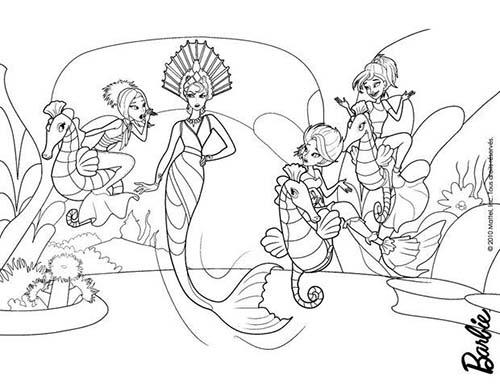 Coloriage barbie et le secret des sirenes eris la mechante - Barbie sirene coloriage ...