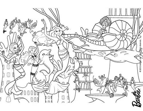 Coloriage barbie et le secret des sirenes merliah la - Barbie sirene coloriage ...