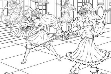 Coloriages-Barbie-et-les-3-Mousquetaires-Coloriage-dAramina-Corinne-et-Renee-en-action.jpg
