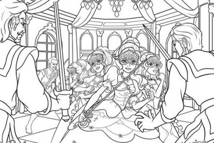 Coloriages-Barbie-et-les-3-Mousquetaires-Coloriage-dAramina-Corinne-et-Renee-tombant-dans-une-embuscade.jpg
