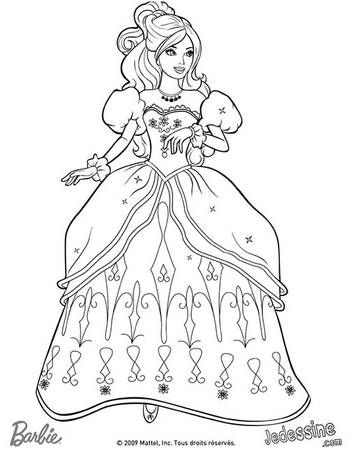 Coloriage barbie et les 3 mousquetaires coloriage d - Dessin anime barbie princesse ...