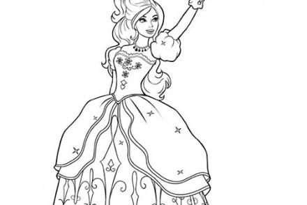 Coloriages-Barbie-et-les-3-Mousquetaires-Coloriage-dAramina-en-robe-et-avec-son-epee.jpg
