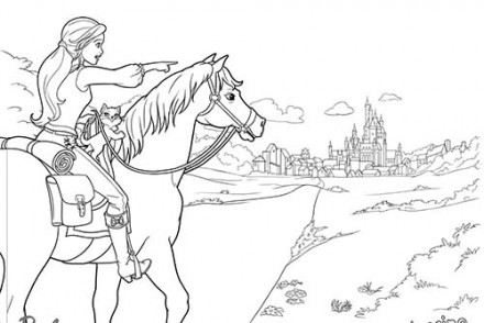 Coloriage barbie apprentie princesse blair a l 39 ecole des - Barbie les 3 mousquetaires ...