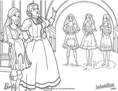 Coloriage barbie et les 3 mousquetaires coloriage de - Barbie les 3 mousquetaires ...