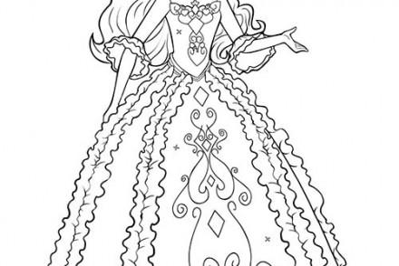 Coloriages-Barbie-et-les-3-Mousquetaires-Coloriage-de-Renee-dans-sa-belle-robe-2.jpg