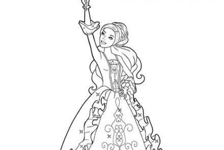 Coloriages-Barbie-et-les-3-Mousquetaires-Coloriage-de-Viveca-brandissant-son-epee-2.jpg