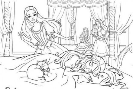 Coloriages-Barbie-et-les-3-Mousquetaires-Coloriage-de-la-belle-endormie-sur-son-lit.jpg