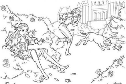 Coloriages-Barbie-et-les-3-Mousquetaires-Coloriage-de-la-chute-de-Corinne-dans-les-rosiers.jpg
