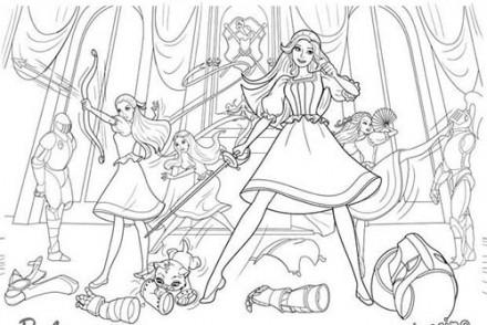 Coloriages-Barbie-et-les-3-Mousquetaires-Coloriage-des-filles-mousquetaires-au-combat.jpg
