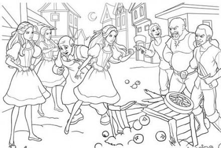 Coloriages-Barbie-et-les-3-Mousquetaires-Coloriage-dune-querelle-entre-Barbie-et-les-hommes-du-village.jpg