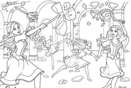 Coloriages-Barbie-et-les-3-Mousquetaires-Lentrainement-de-Barbie-Aramina-Corinne-et-Renee.jpg