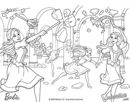 Coloriages-Barbie-et-les-3-Mousquetaires-Lentrainement-de-Barbie-Aramina-Corinne-et-Renee.jpg