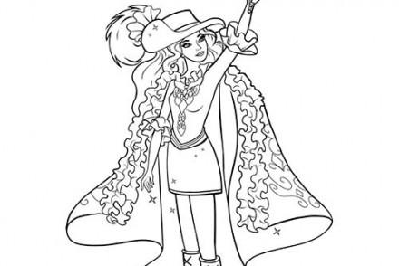 Coloriage barbie apprentie princesse coloriage de dame devin - Barbie et les mousquetaires ...
